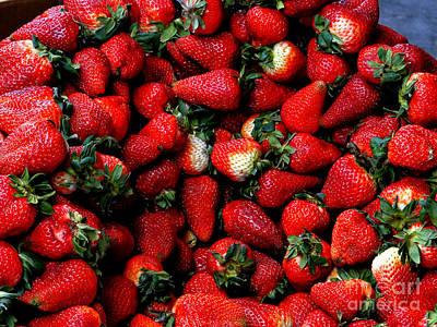 Cuenca Photograph - Wheelbarrow Of Strawberries by Al Bourassa