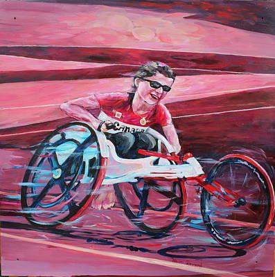 Sports Murals Painting - Wheelchair Racing by Naomi Gerrard