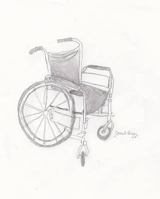 Disability Mixed Media - Wheelchair Sketch by Janel Bragg