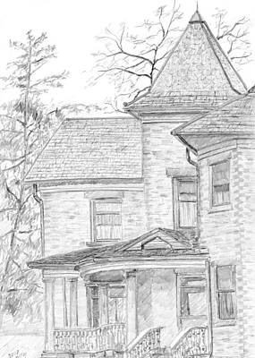 Drawing - Wheeler Farm House by David King