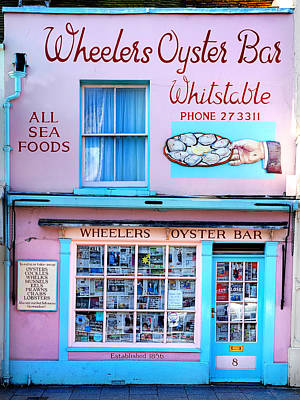 Oyster Photograph - Wheelers Oyster Bar by Mark Rogan