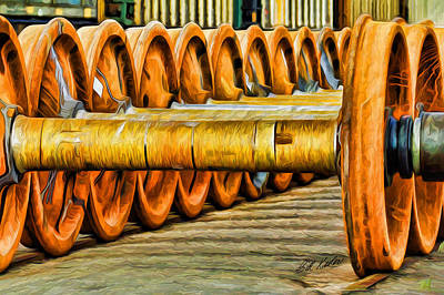 Photograph - Wheels And Rails by Bill Kesler