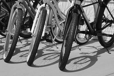 Photograph - Wheels And Spokes by Suzanne Gaff