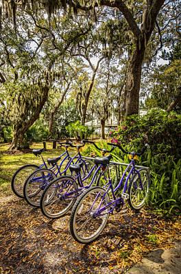 Beach Bicycle Photograph - Wheels by Debra and Dave Vanderlaan