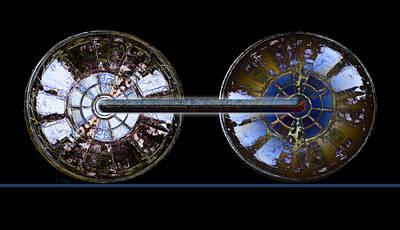 Digital Art - Wheels by Fran Riley