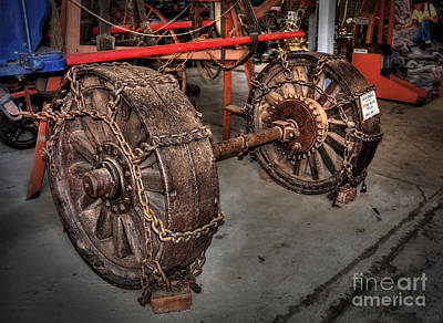 Photograph - Wheels Of Old Steam Wagon by Kaye Menner