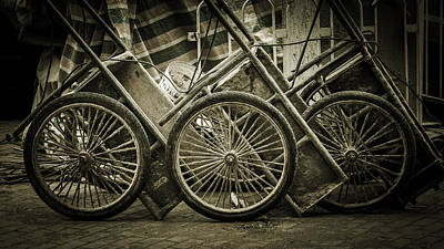 Photograph - Wheels Of Three by Dave Hall