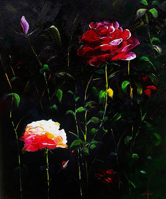 Painting - When A Rose Is A Rose by Gloria Dietz-Kiebron