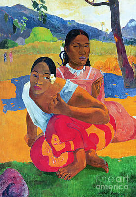 Bright Colors Painting - When Are You Getting Married by Paul Gauguin