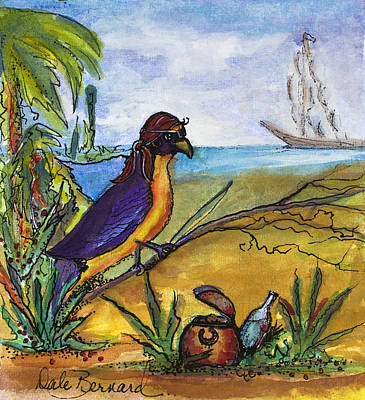 Painting - When Birds Of Paradise Go Bad by Dale Bernard