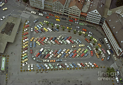 Photograph - When Cars Were Colorful 1980s by David Davies