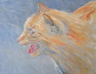 When Cat Talks Art Print