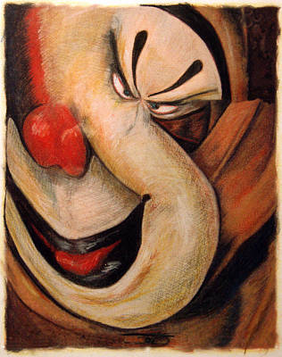 Mixed Media - When Clowns Go Bad by Ed Meredith