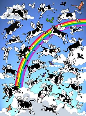 When Cows Fly Original by Linda Mears