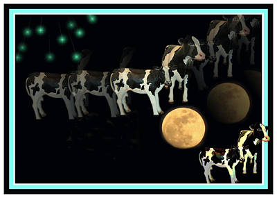 Photograph - When Cows Jump Over The Moon by Joyce Dickens