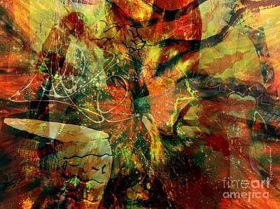 Faniart Africa America Mixed Media - When Everythng Is Under Attack by Fania Simon