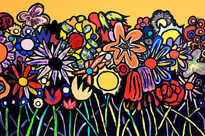 Painting - When Flowers Get Angry by Mark Watson