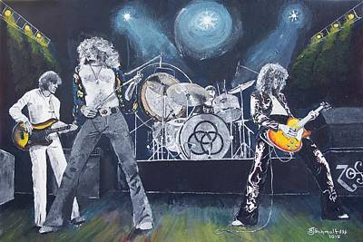 Robert Plant Painting - When Giants Rocked The Earth by Bruce Schmalfuss