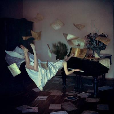 Piano Photograph - When Gravity Doesn't Work by Anka Zhuravleva