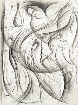 Drawing - When I Am Weak by Michael Morgan