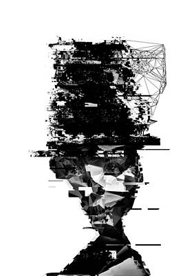 Glitch Digital Art - When I Try To Remember by PandaGunda