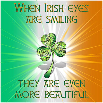 Digital Art - When Irish Eyes Are Smiling by Ireland Calling