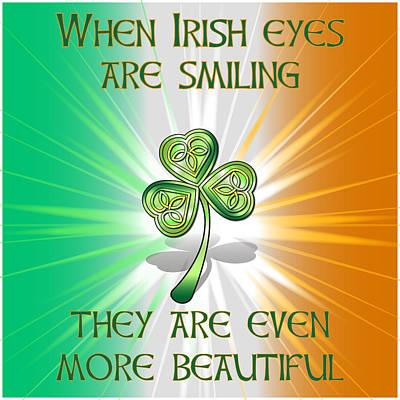 Digital Art - When Irish Eyes Are Smiling by Ireland Calling