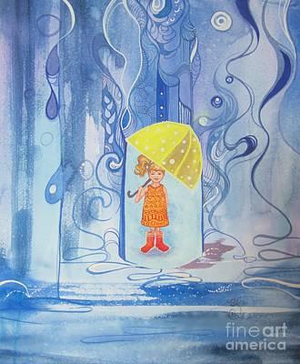 When It Rains It Pours Art Print by Maya Simonson