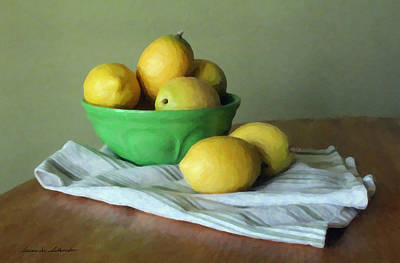 Painting - When Life Gives You Lemons by Susan Schroeder