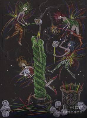 When Marshmallows Glow Art Print