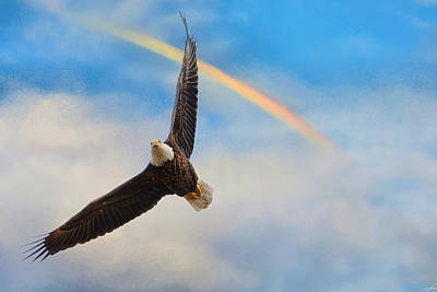 When My Wings Touch The Rainbow Art Print by Jai Johnson