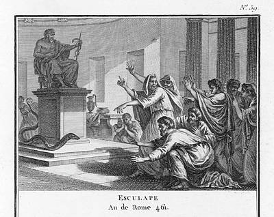 When Plague-afflicted Romans  Come Art Print by Mary Evans Picture Library