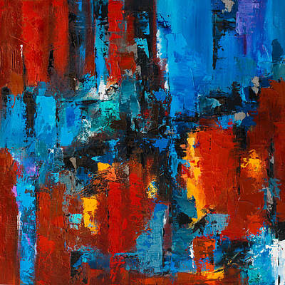 When Red And Blue Meet Art Print by Elise Palmigiani