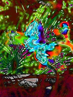 Digital Art - When Souls Rise Abstract by Alec Drake