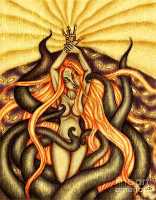 When Spirits Rise And Demons Dance Art Print by Coriander  Shea