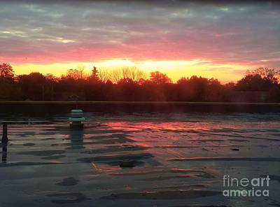 When Sunrise Calls Art Print by Judy Via-Wolff