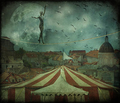 Gale Digital Art - When The Circus Came To Town... by Marie  Gale