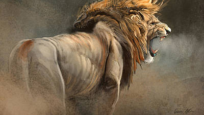 Animal Art Digital Art - When The King Speaks by Aaron Blaise
