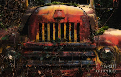 Old Trucks Photograph - When The Lights Go Out  by Bob Christopher