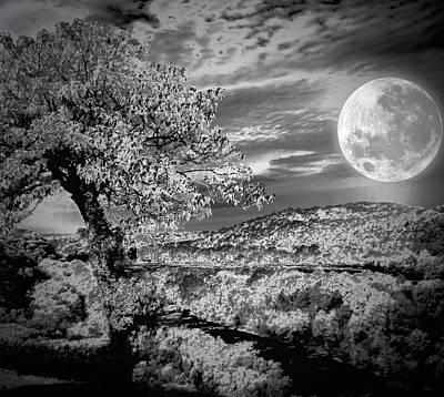 Art Print featuring the photograph When The Moon Comes Over Da Mountain by Robert McCubbin