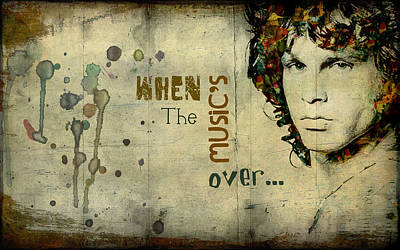 Digital Art - When The Music's Over... by Marie  Gale
