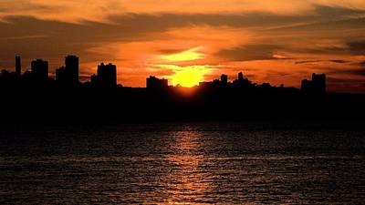 Photograph - When The Sun Goes Down In The City  by Bob Wall