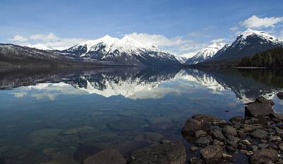 Photograph - When The Sun Shines On Glacier National Park by Fran Riley