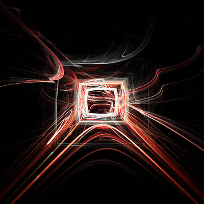 Digital Art - When The Tv Got Zapped by Menega Sabidussi