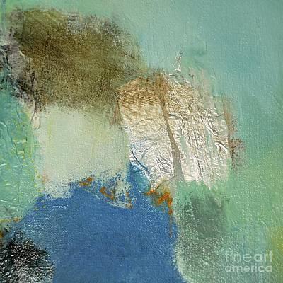 Beige Glass Mixed Media - When Two Worlds Meet by Lisa Schafer