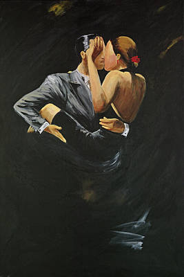 Art Print featuring the painting When We Tango by Sheri  Chakamian