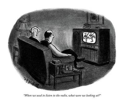 Tv Show Drawing - When We Used To Listen To The Radio by Frank Modell