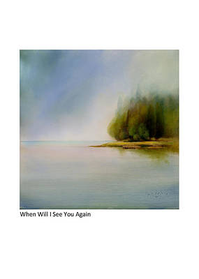 Painting - When Will I See You Again by Betsy Derrick