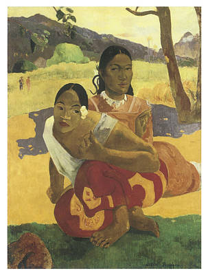 When Will You Marry Me Art Print by Paul Gauguin