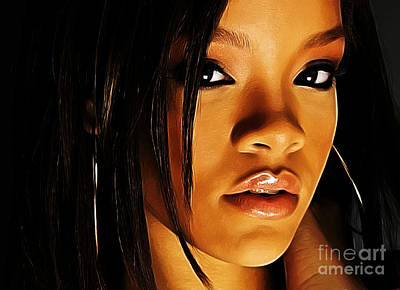 Rihanna Digital Art - When Words Fail... by The DigArtisT